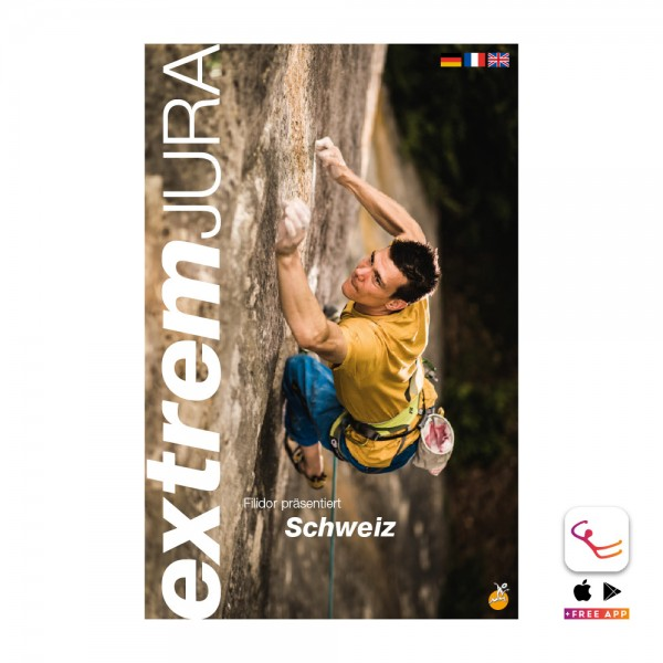Switzerland Extrem Jura - Sport and multi pitch climbing guidebook