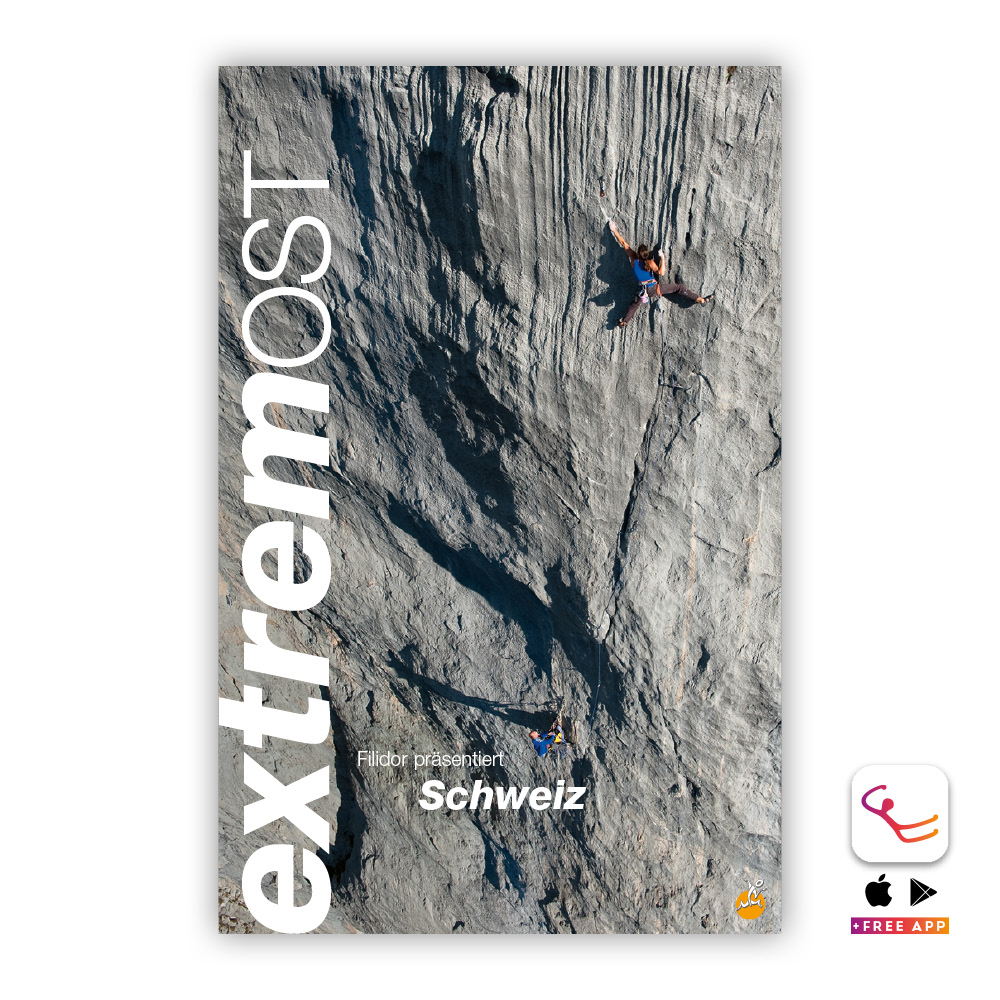 Switzerland Extreme East: Sport and multi pitch climbing guidebook